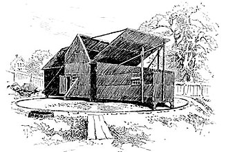 Edison's Black Maria - A drawing of the exterior from 1894