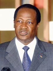 Presidente de Burkina Faso Blaise Compaoré.