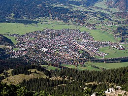 Oberstdorf village view