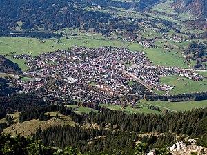 Blick vom Gaißalphorn auf Oberstdorf