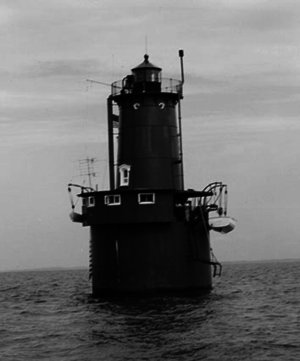 Bloody Point Bar Light - Bloody Point Bar Light prior to 1960 fire (USCG)