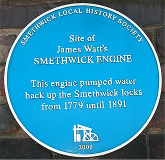 Smethwick Engine - Blue plaque at the site of the Smethwick Engine