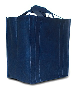 Reusable shopping bag - A blue reusable shopping bag
