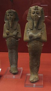 Little figurines of mummy.