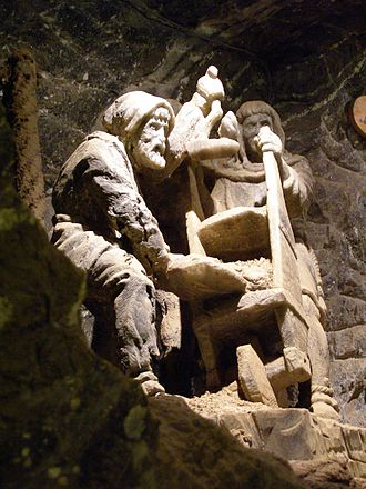 Bochnia - Rock salt sculptures at the Bochnia Salt Mine