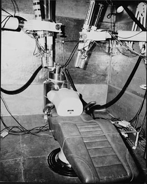 Low-background steel - Image: Body counting room at Rocky Flats Plant