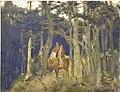 Bogatyrs in the wood by Vasnetsov (1884, Ivanovo).jpg