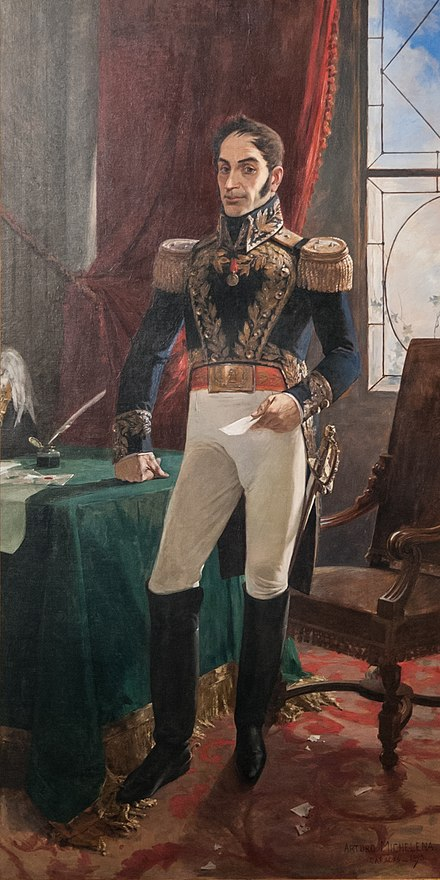 General Simon Bolivar, (1783-1830), a leader of independence in Latin America Bolivar Arturo Michelena.jpg