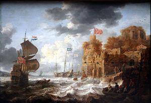 Bonaventura Peeters the Elder - A port in the Orient