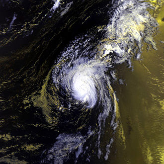NOAA-6 - Image: Bonnie 16 aug 1980 1028Z N6