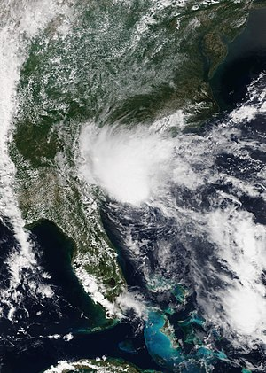 2016 Atlantic hurricane season - Image: Bonnie 2016 05 28 Suomi NPP