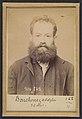 """Bouchenez. Adolphe. 36 ans, 27-2-94. (En rouge barrant la fiche- """"Transféré à Mazas. À faire extraire""""). MET DP290216.jpg"""