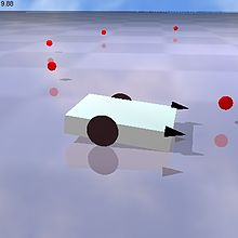 Braitenberg vehicle (simulation made with breve).jpg