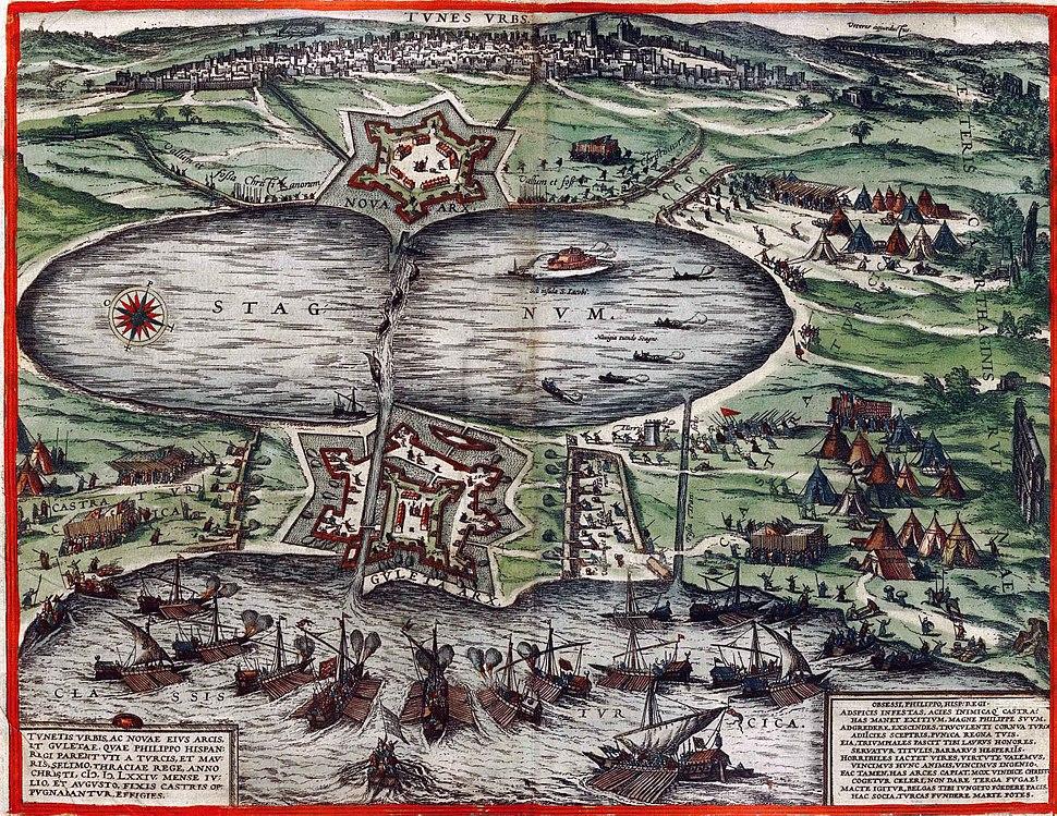 Braun hogenberg tunis 1535
