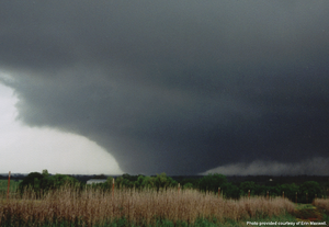 1999 Bridge Creek–Moore tornado - The tornado near peak intensity
