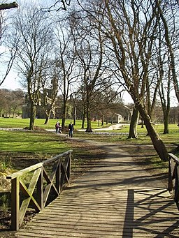 Bridge in Kirkstall Abbey grounds - geograph.org.uk - 140547