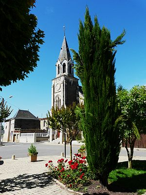 Brie, Deux-Sèvres - The church in Brie
