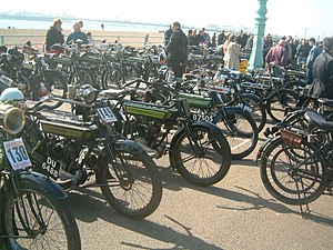 Vintage Motor Cycle Club - A vintage motorcycle rally in Brighton