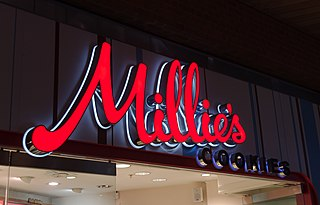 Millies Cookies UK chain of retail bakeries specializing in cookies, muffins, hot drinks and gifts