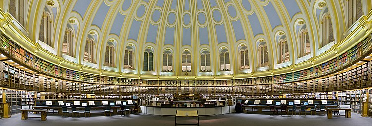 Panorama of the circular Reading Room