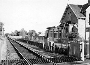 Brodie railway station - The site of the station in 1977