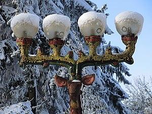 Bruno Weber - One of the deer lamps on Ueltiberg mountain