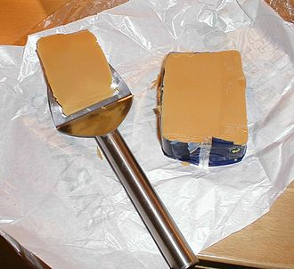 Brunost - Brunost is usually sliced very thinly using a metal cheese slicer.