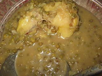 Bubur kacang hijau - Image: Bubur Kacang Hijau Durian
