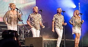 Bucks Fizz - The band at Stockholm Pride 2015