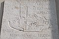 Budapest Transport Museum. Plaque to Antal Berkhard, who built the 1st Hungarian steamship in 1817.jpg