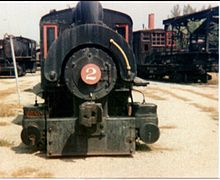 Bullard Co. No. 2, at Steamtown, USA, Bellows Falls, Vermont, c. 1974