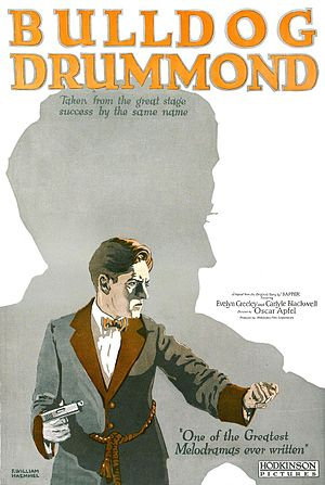 Bulldog Drummond - Poster for the 1922 film ''Bulldog Drummond'', based on McNeile's play of the same name
