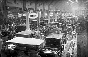 Berlin Motor Show - Maybach stand, 1924