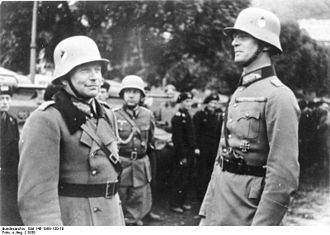 Georg-Hans Reinhardt - Reinhardt (right) with Heinz Guderian, 1938