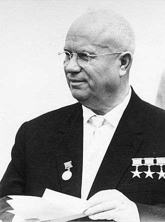 Mikhail Gorbachev - Nikita Khrushchev, the Soviet leader whose anti-Stalinist reforms were supported by Gorbachev