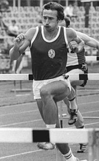 Thomas Munkelt East German hurdler and sprinter