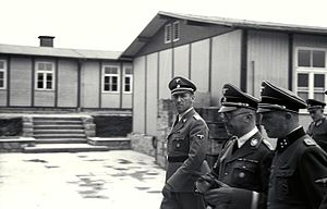 Ernst Kaltenbrunner - Kaltenbrunner with Himmler and Ziereis at Mauthausen in April 1941