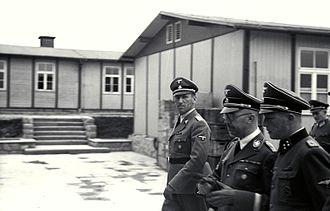 Ernst Kaltenbrunner - Kaltenbrunner with Himmler and Ziereis at Mauthausen in April 1941