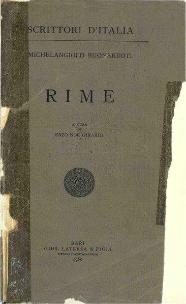 File:Buonarroti, Michelangelo – Rime, 1960 – BEIC 1775670.pdf
