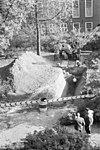 burchtheuvel naar het oosten overzicht opgraving - leiden - 20133643 - rce