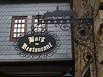 Burg Lichtenberg Nasenschild Burgrestaurant.JPG