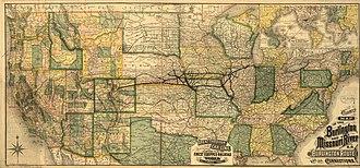 Burlington and Missouri River Railroad - Burlington and Missouri River Railroad, 1882