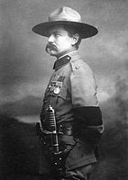American scout Frederick Russell Burnham wearing a campaign hat in 1902  after the Second Boer War. He introduced scouting and American woodcraft to  ... 273979480b4