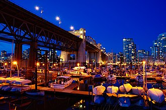 Downtown Vancouver - Burrard Street Bridge is a major bridge and access point to Downtown.