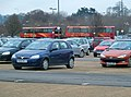 Buses assembling at Ashton Park & Ride, Bristol - geograph.org.uk - 2252398.jpg