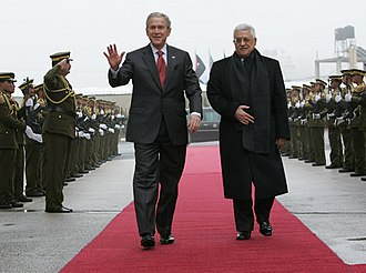 West Bank - U.S. President George Bush and Mahmoud Abbas in Ramallah, 2008
