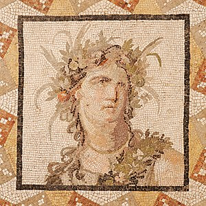 Corolla (chaplet) - Image: Bust woman mosaic Met 38.11.12
