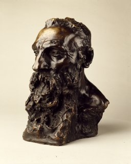 <i>Bust of Auguste Rodin</i> (Claudel) 1888–89 sculpture by Camille Claudel