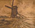 Bytebier E. - Charcoal - Moulin à vent dans le Brabant - 48x60cm.jpg