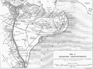 Map of Constantinople. Detailed map.